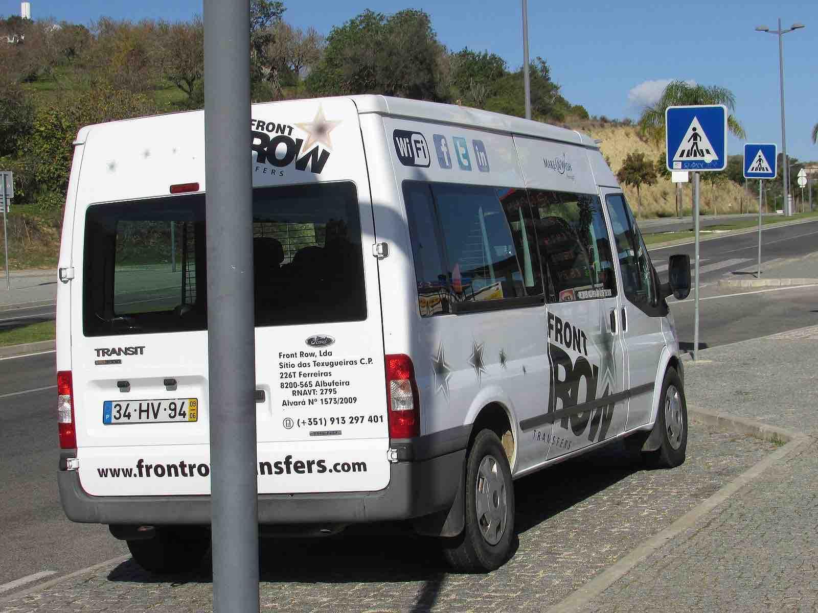 Spanish airport transfer shuttle