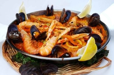 Bowl of Spanish Paella