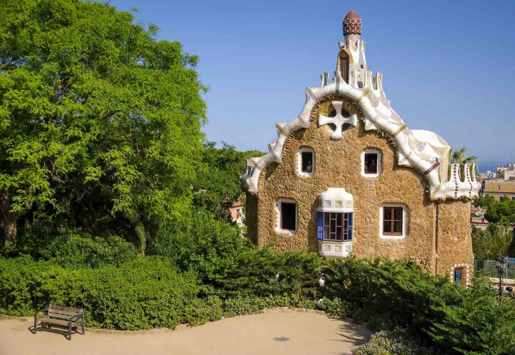 Barcelona - Little House in Guell Park