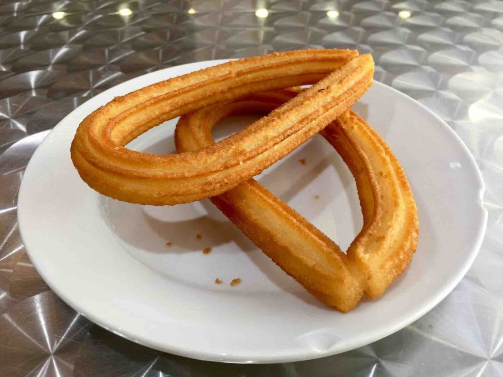 Churros on a plate
