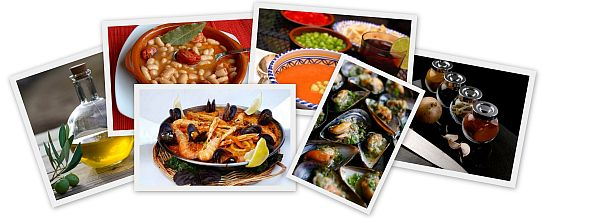Collage of Spanish Foods Photos