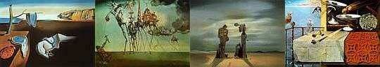 Collage of Salvador Dali's paintings