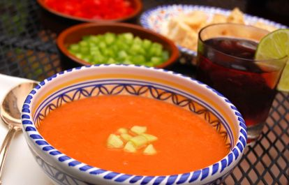 Picture of homemade gazpacho