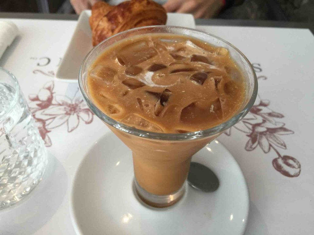 Glass of Granizado de Cafe