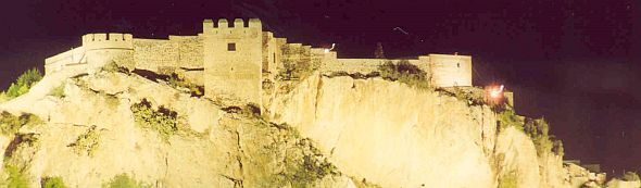 Picture of a Medieval Spanish Fort at Night
