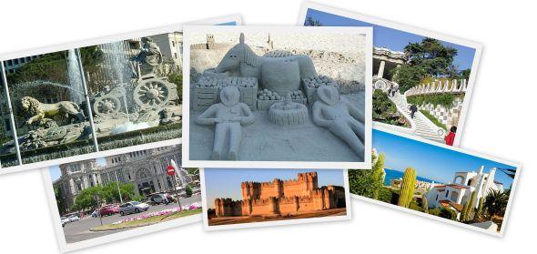 Collage of Spanish landmarks