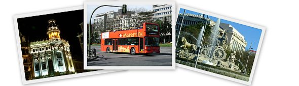 Collage of Madrid landmarks and tourist attractions