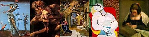 Collage of Spanish art
