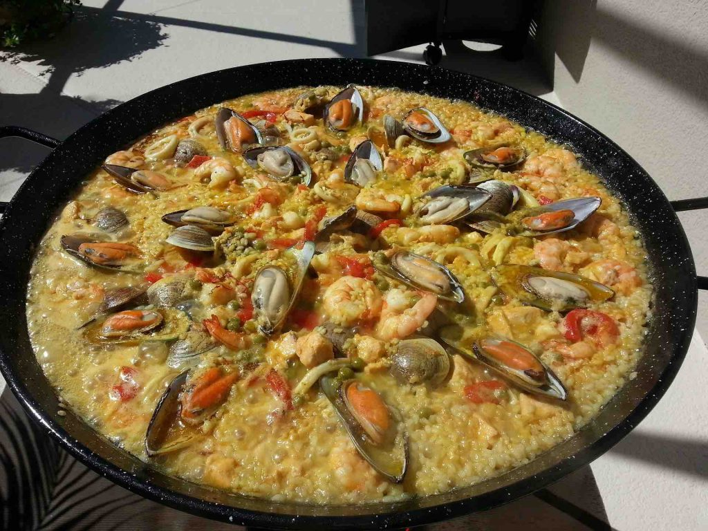 Plate of Spanish Paella