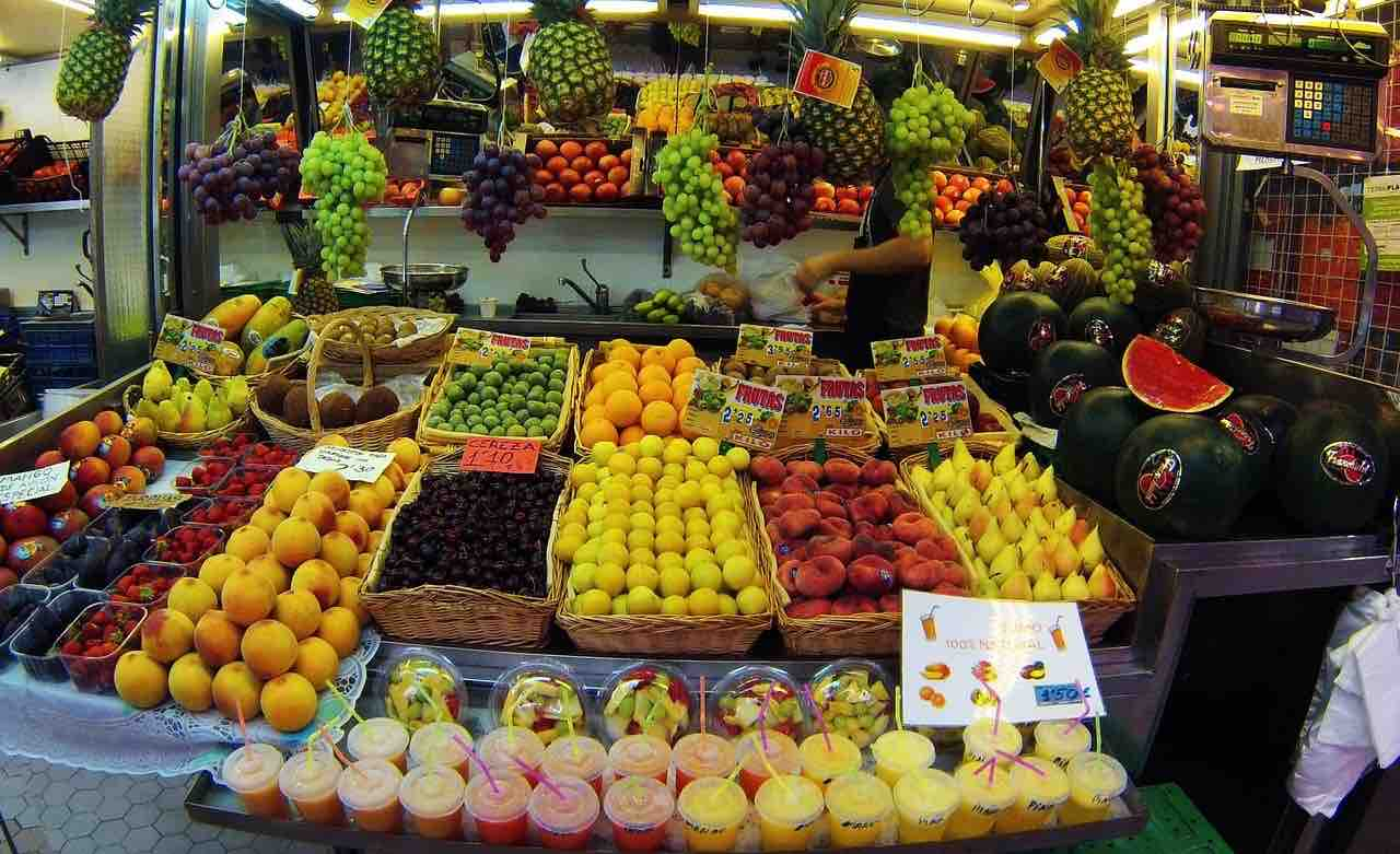 Produce market in Valencia