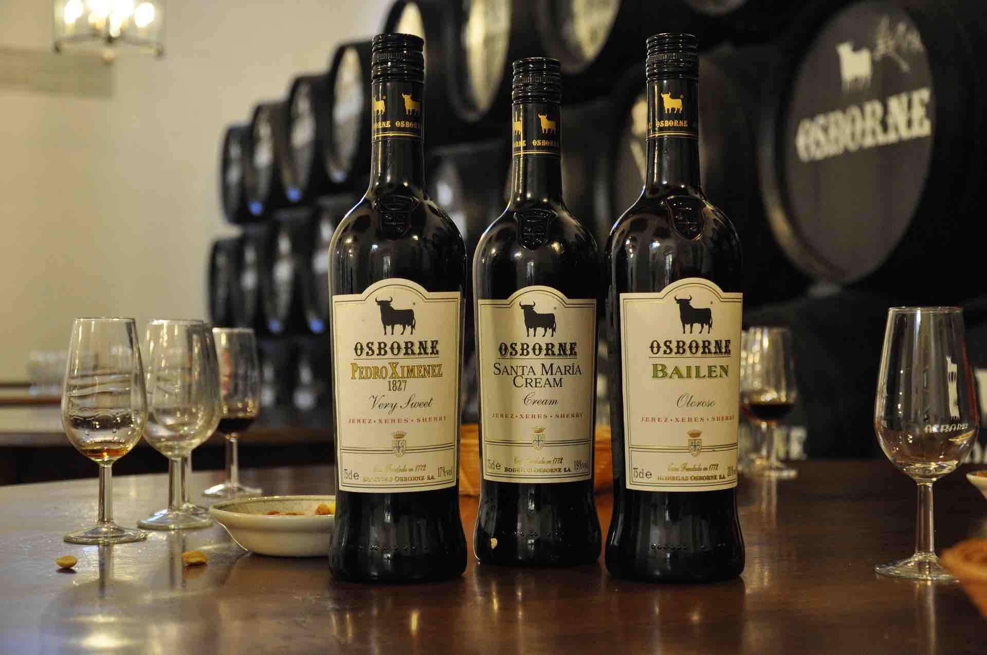 Bottles of Spanish Sherry Alcohol