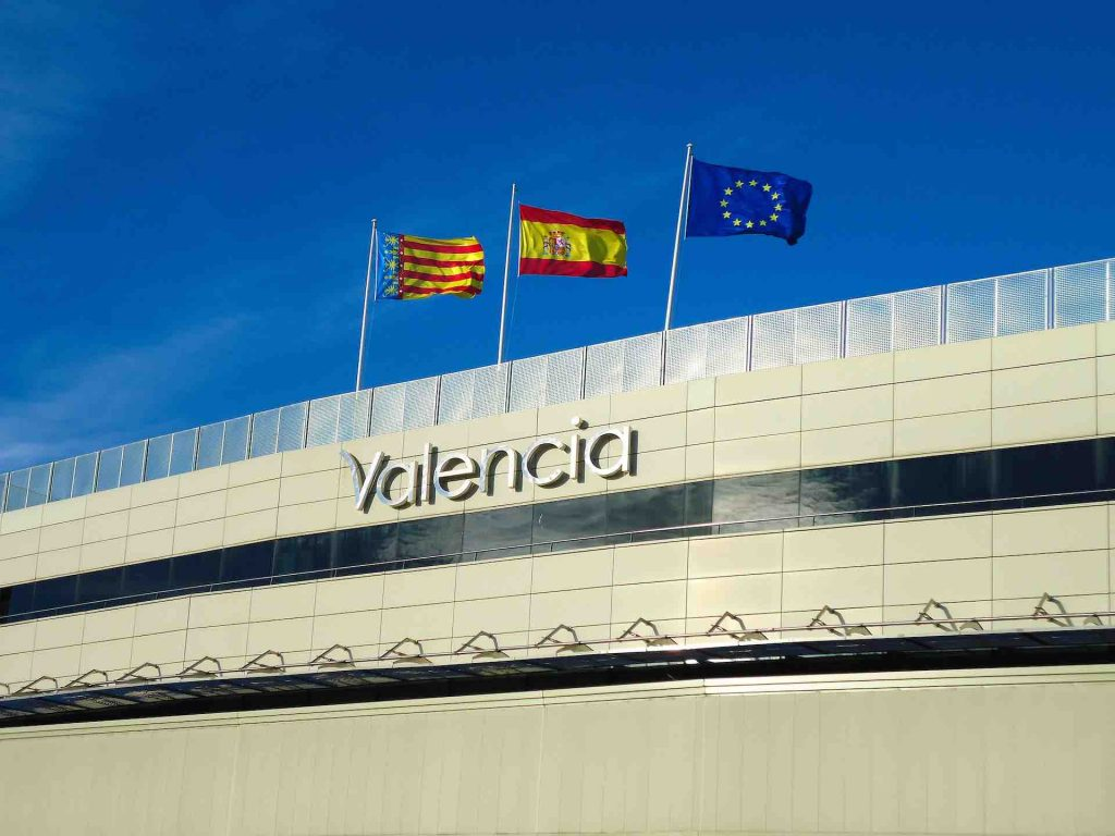 Outside of Valencia Airport